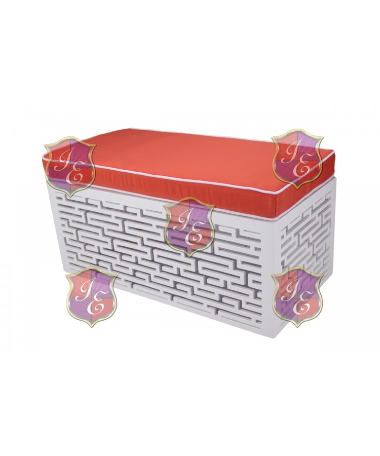 Maze Ottoman (Rectangular)(Orange)