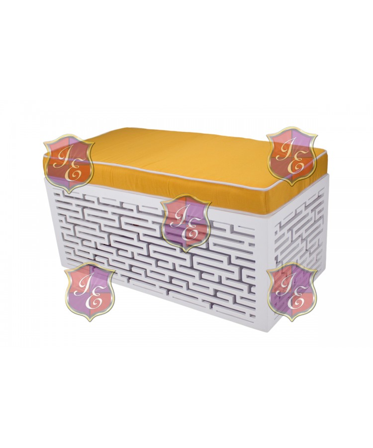 Maze Ottoman (Rectangular)(Yellow)