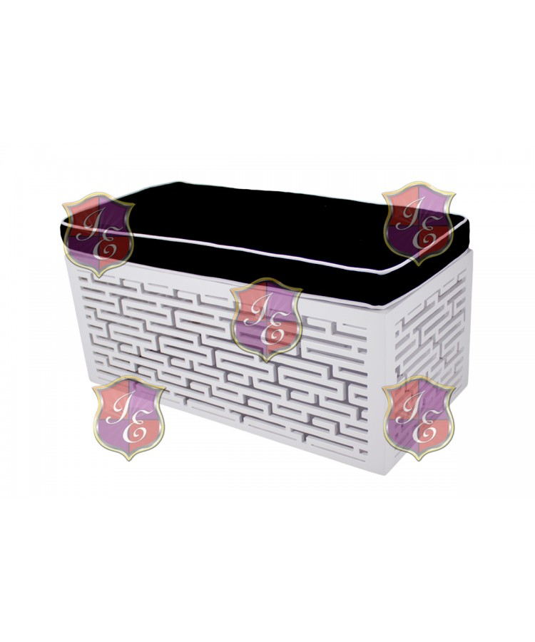 Maze Ottoman (Rectangular)(Black)