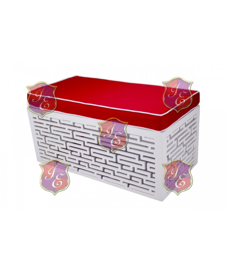 Maze Ottoman (Rectangular)(Red)