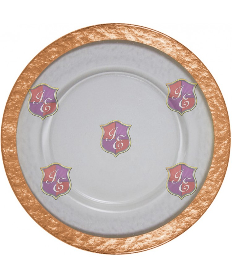Cloud Charger Plate (Rose Gold Border)