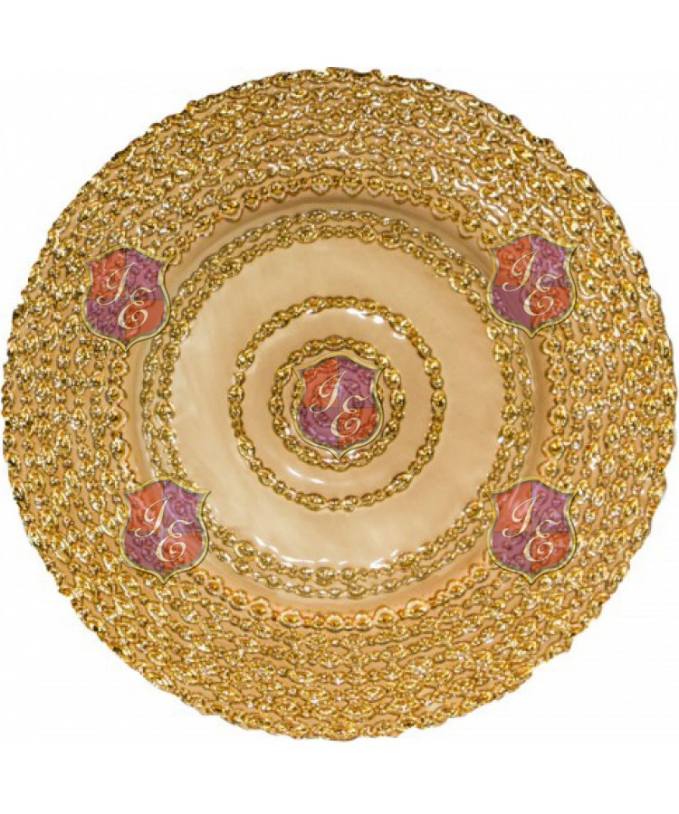 Lasso Charger Plate (Blush and Gold)