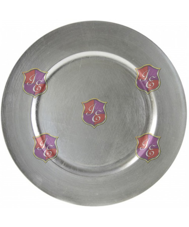 Beaded Rim Charger Plate (Silver)