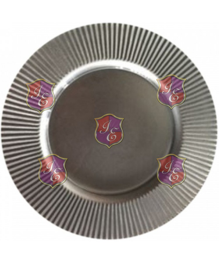 Flamenco Charger Plate (Silver)