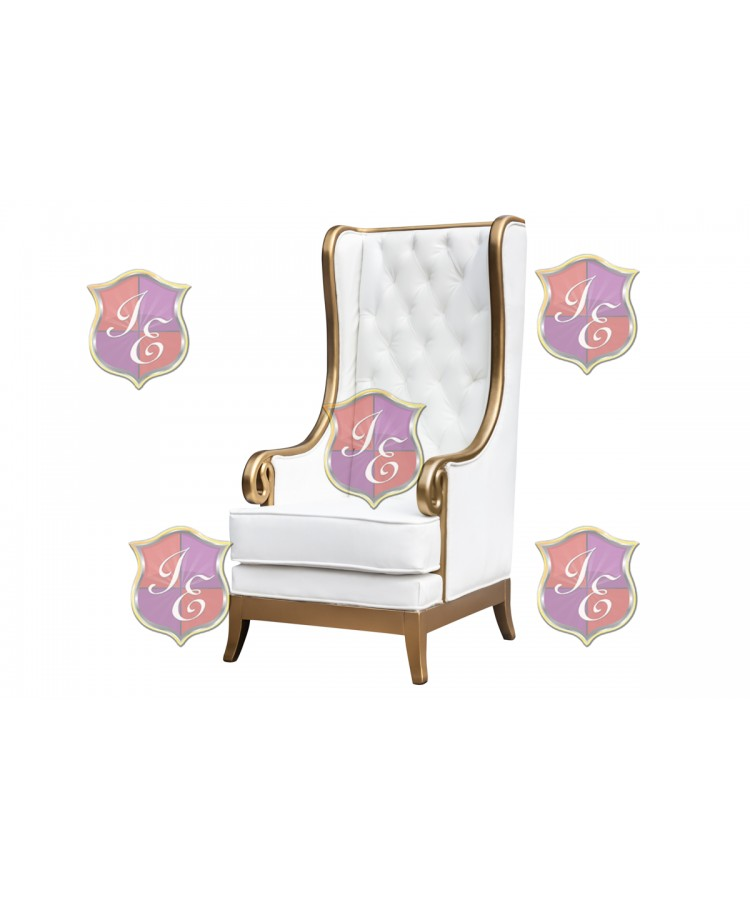 Empire ArmChair (Gold-White)