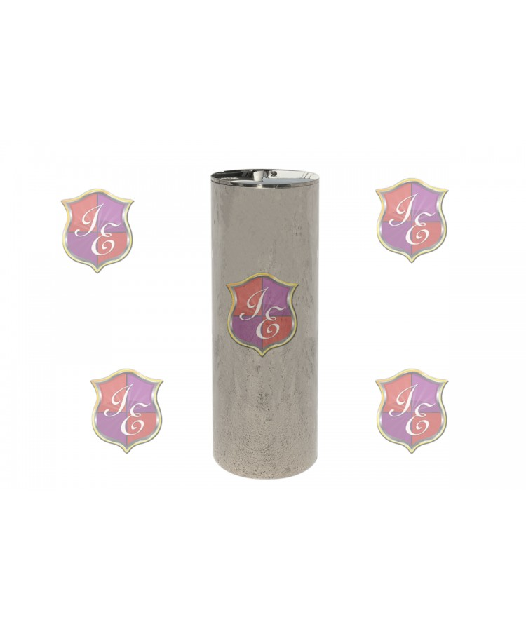 "Cylinder Pedestal (Silver) 48"" H"