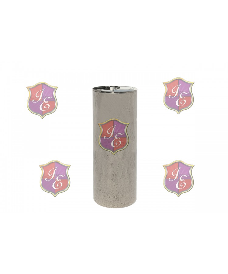 "Cylinder Pedestal (Silver) 39"" H"