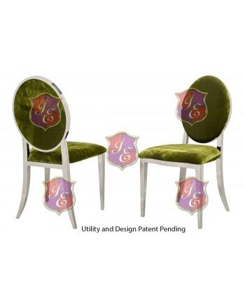 Tiffany Chair (Silver-Moss)