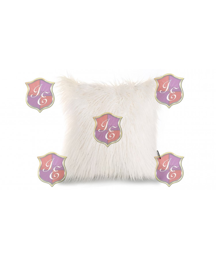 Faux Fur Pillow (White)