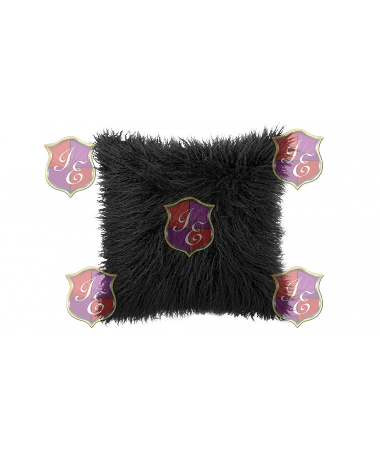 Faux Fur Pillow (Black)