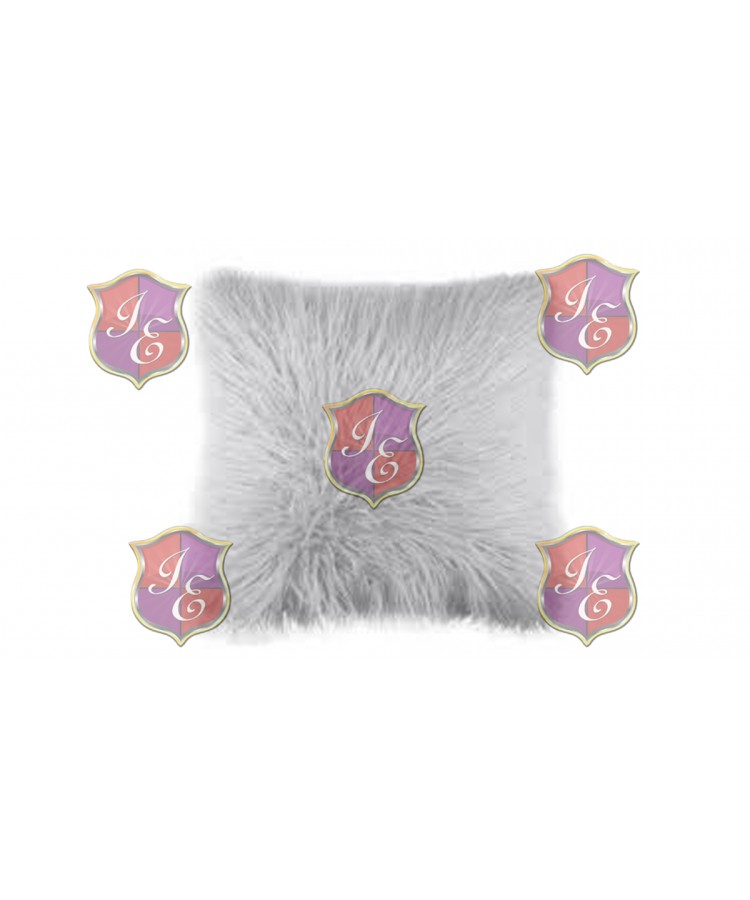 Faux Fur Pillow (Light Grey)