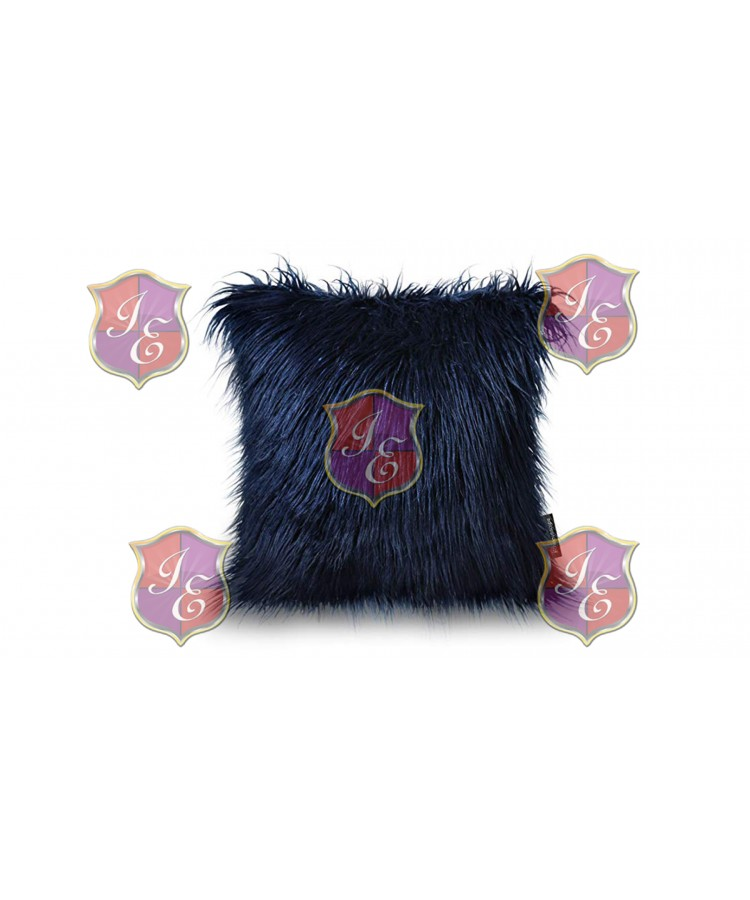 Faux Fur Pillow (Navy Blue)