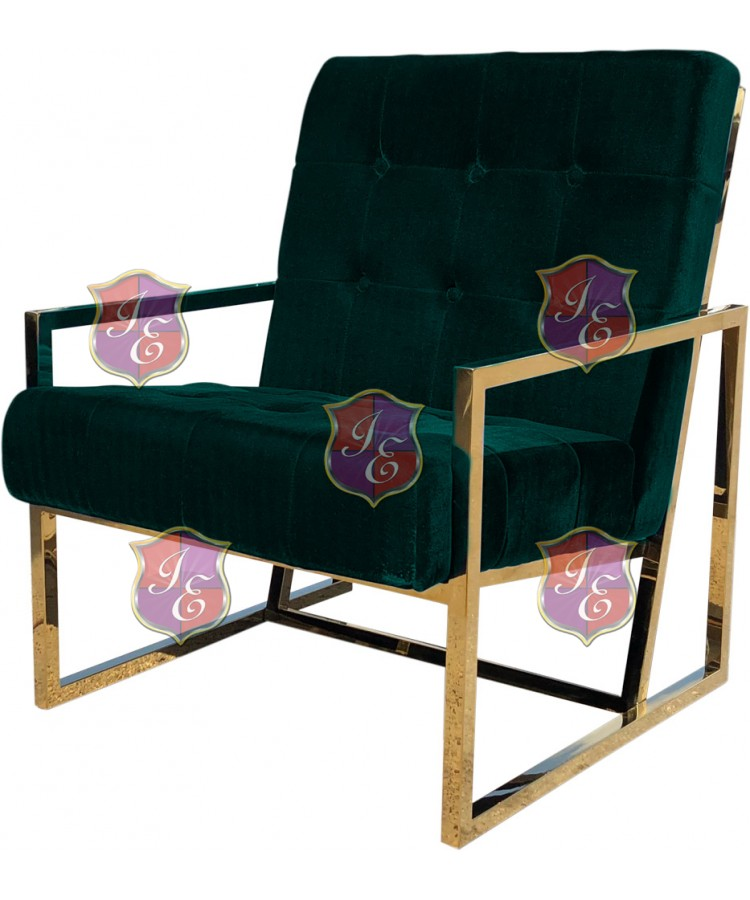 Reflection Rain Armchair (Gold - Emerald Tufted)