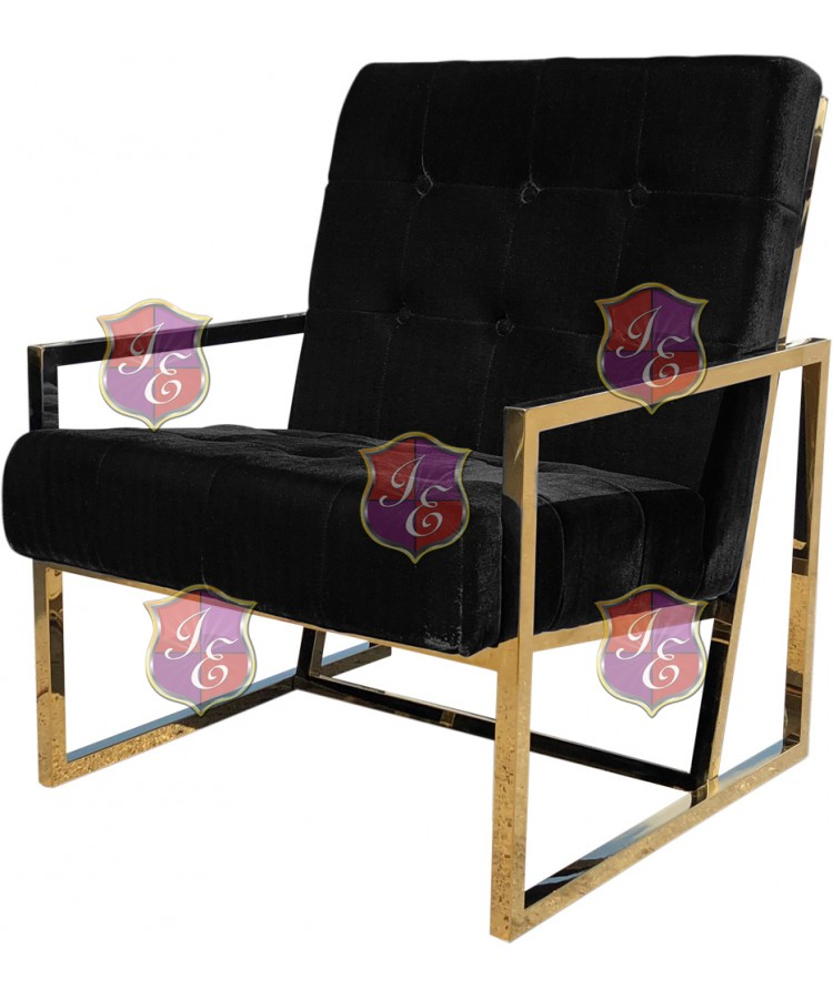 Reflection Rain Armchair (Gold - Black Tufted)