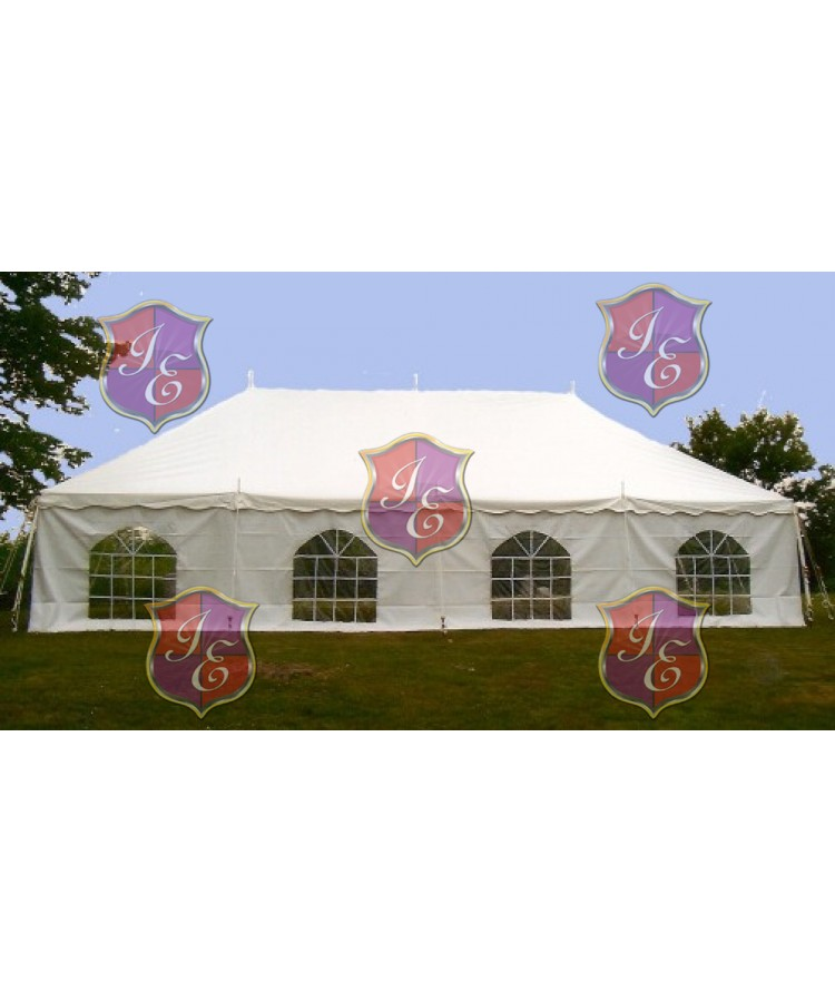 Sidewall for Tent 20'x8' (Cathedral Window) (White)