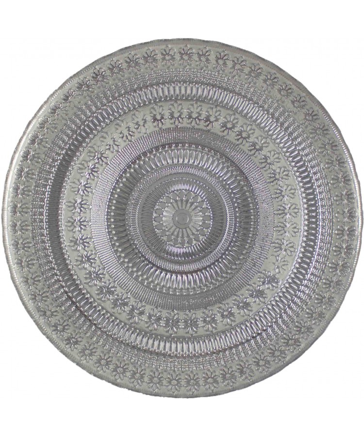 Agra Charger Plate (Silver)