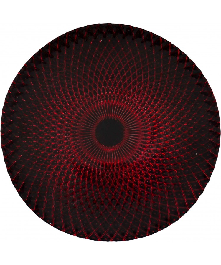 Harlequin Charger Plate (Black and Red)