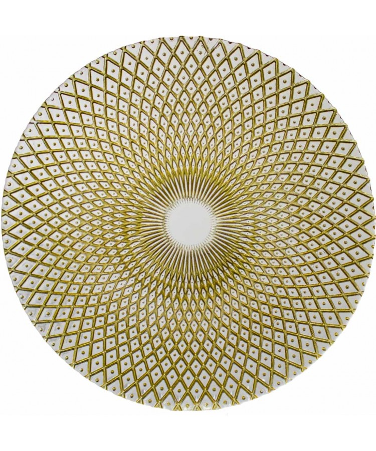 Harlequin Charger Plate (Clear and Gold)