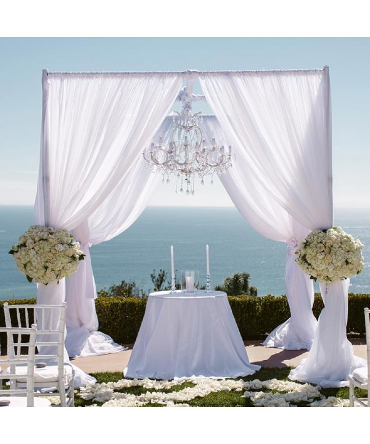 Square Chuppah made of Drape 10'