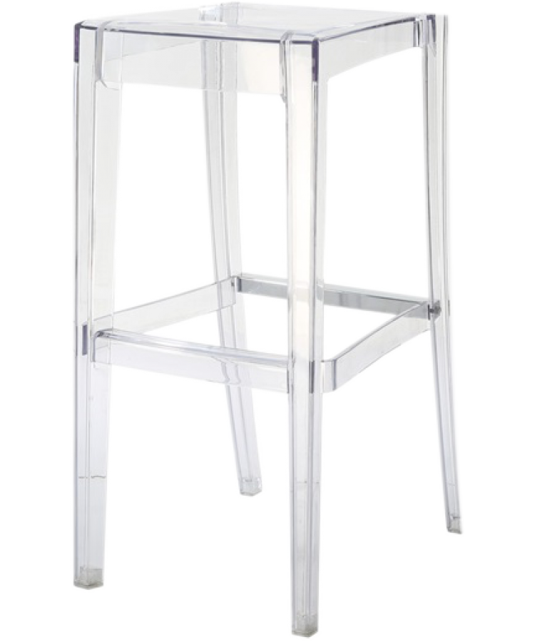 Ghost Barstool Clear (Without Back)