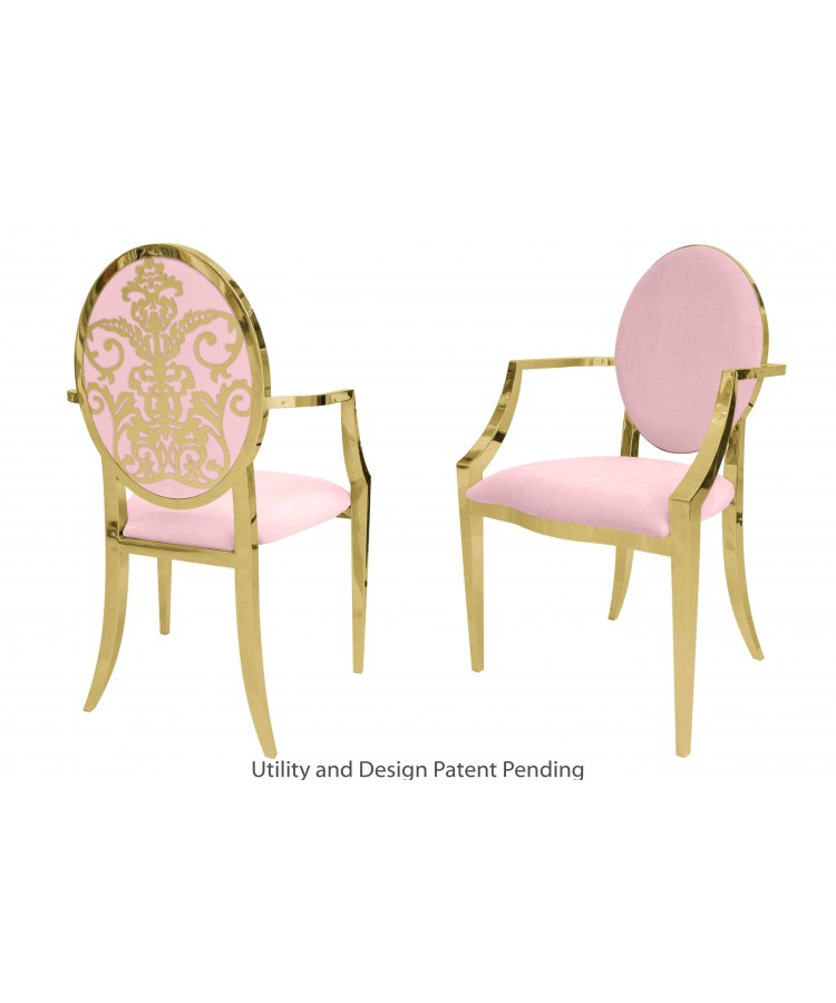 Dior Armchair (Gold-Pink)