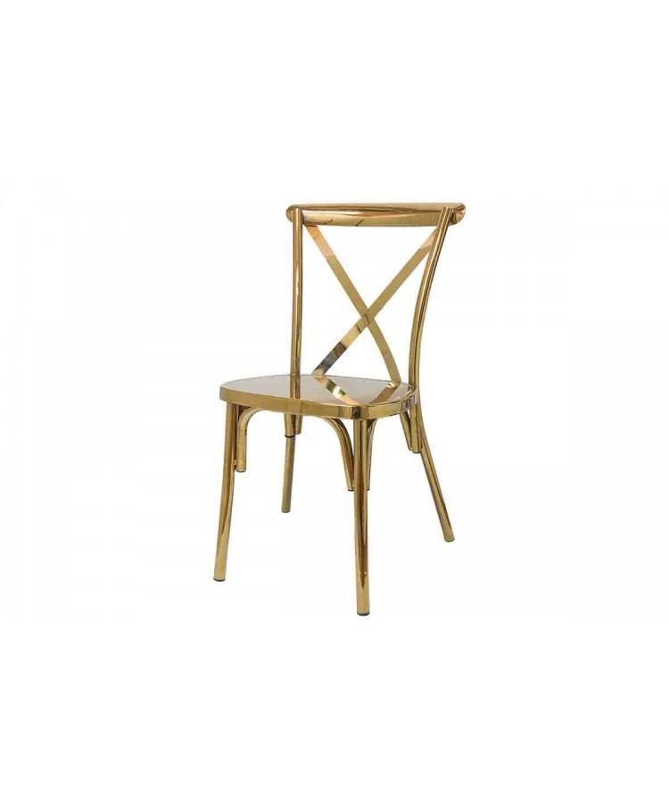 Cross Back Chair (Gold)