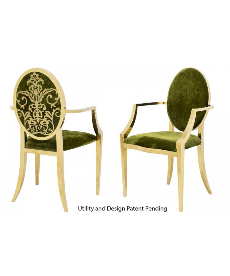 Dior Armchair (Gold-Moss)