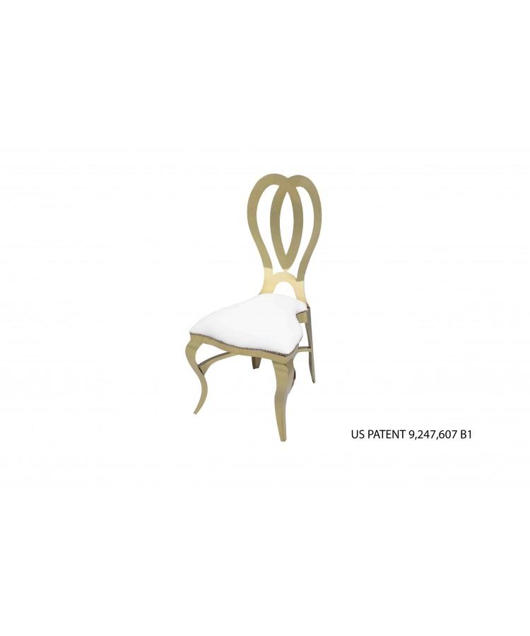 Halexandria Chair (Gold-White)