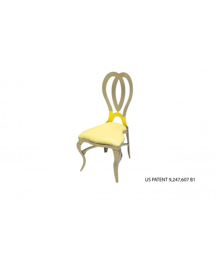 Halexandria Chair (Gold-Yellow)