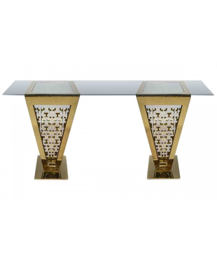 "Reflection Highboy Table Pyramid (Gold) 24"" x 96"""