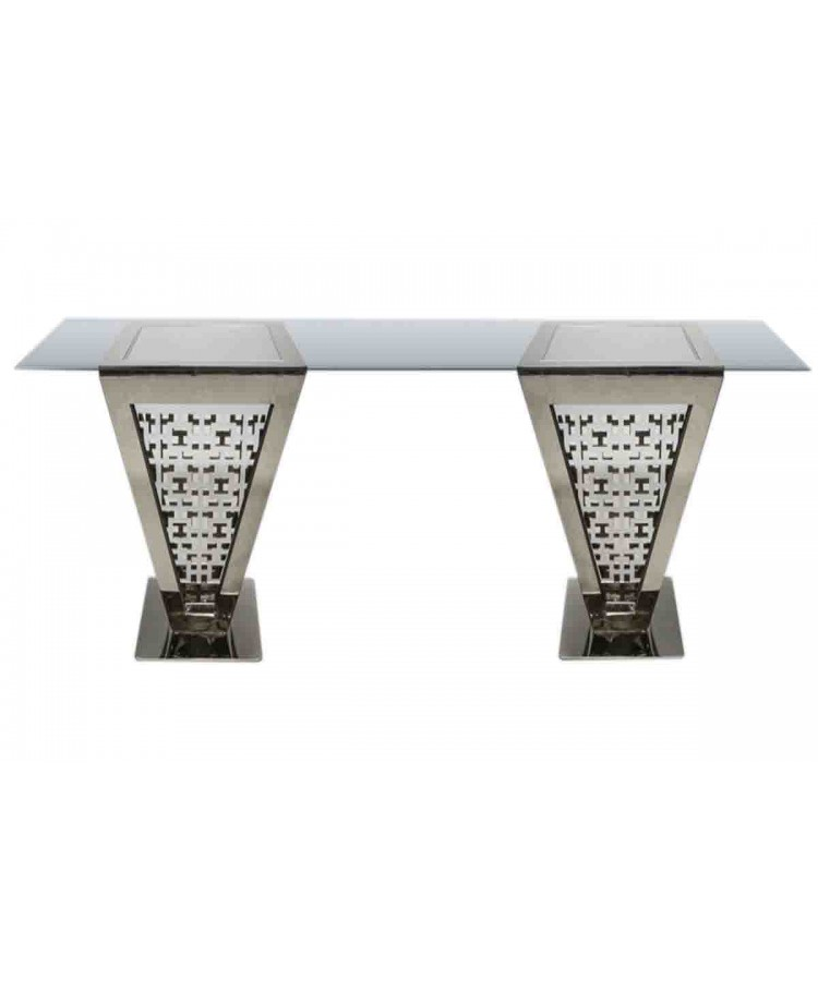 "Reflection Highboy Table Pyramid (Silver) 24"" x 96"""