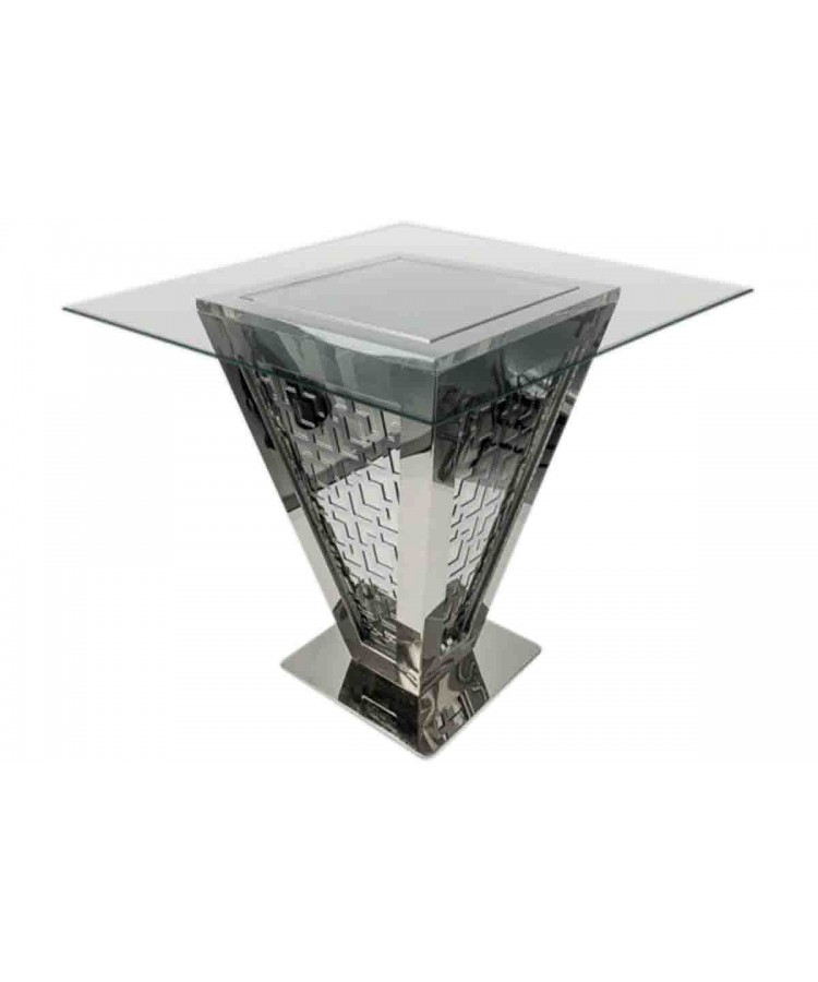 "Reflection Highboy Table Pyramid (Silver) 48"" x 48"""