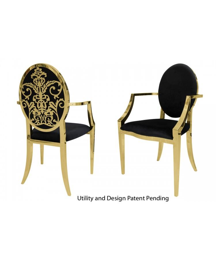 Dior Armchair (Gold-Black)
