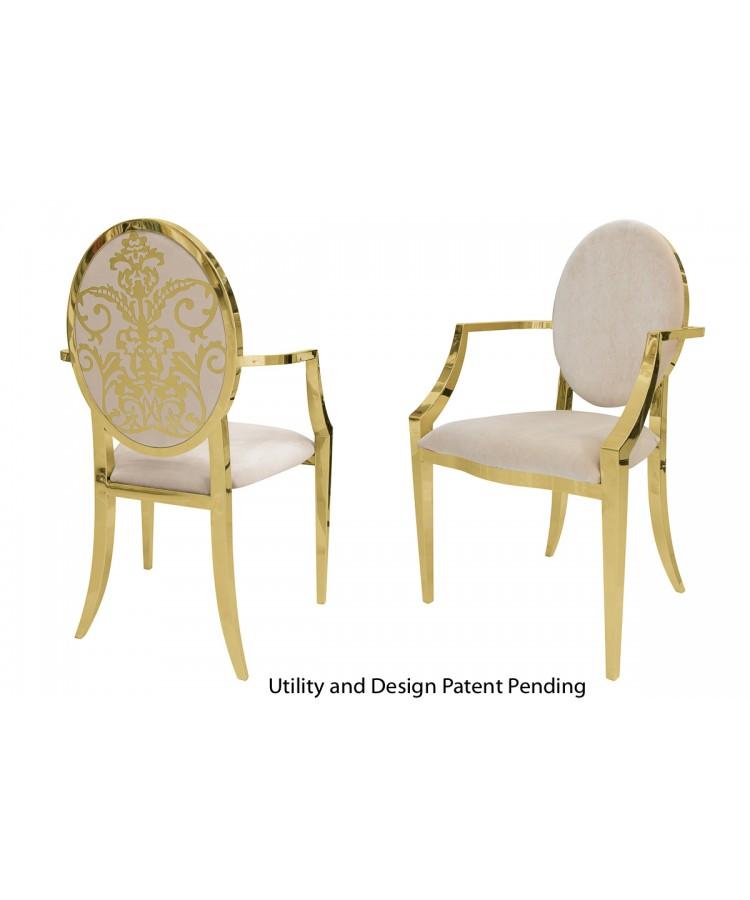 Dior Armchair (Gold-Champagne)