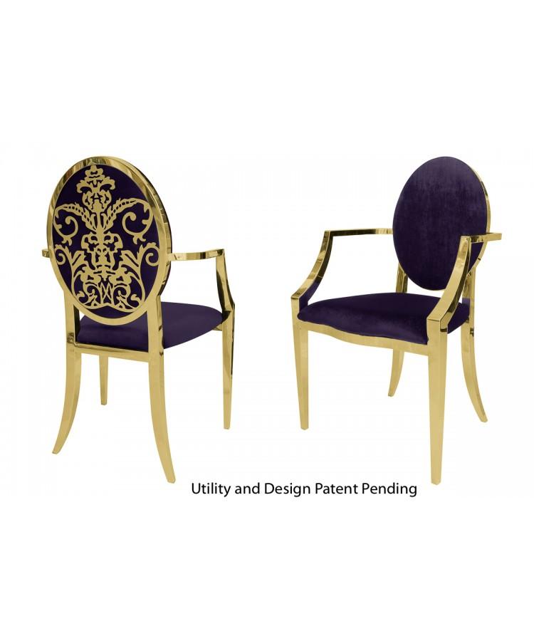 Dior Armchair (Gold-Eggplant)