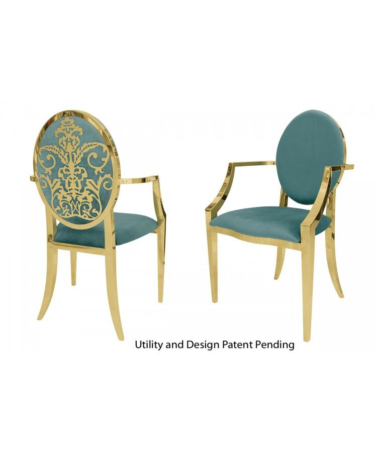 Dior Armchair (Gold-Tiffany)