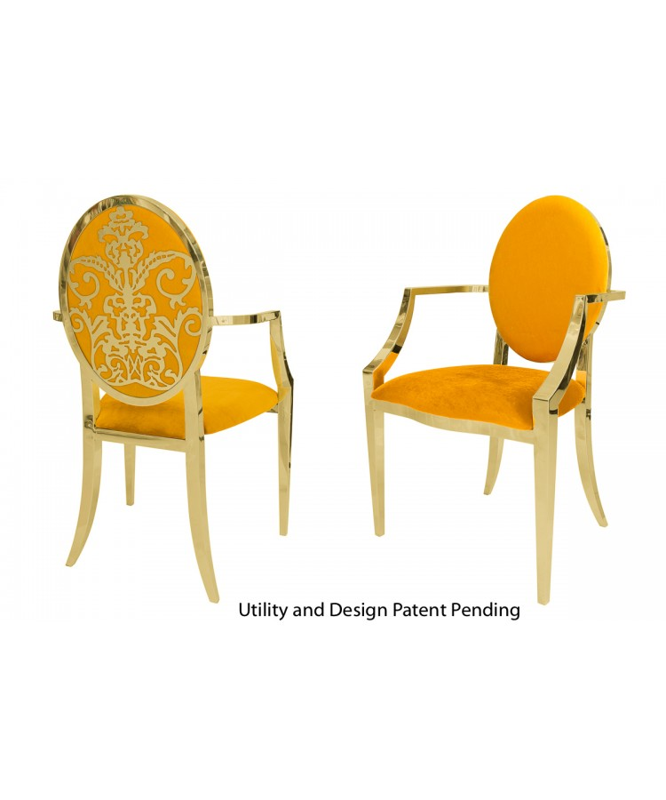 Dior Armchair (Gold-Yellow)