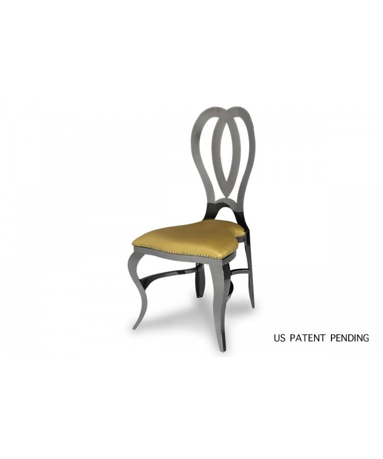Halexandria Chair (Gun Metal-Gold)