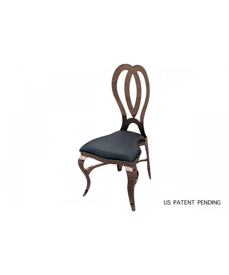 Halexandria Chair (Rose Gold-Black)