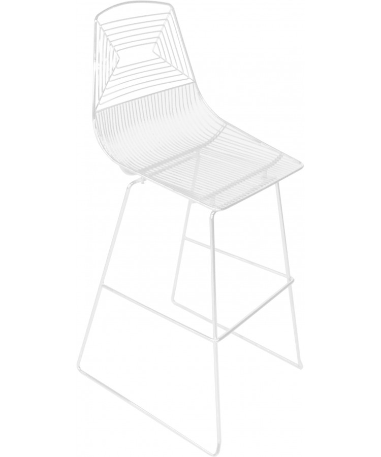 Wire Barstool (White)