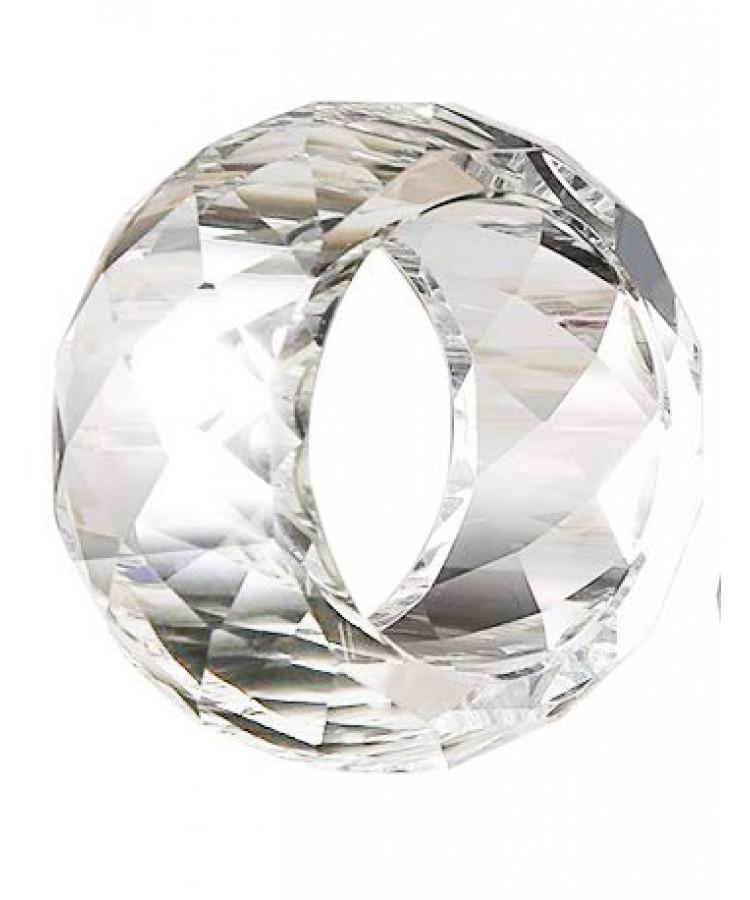 Crystal Cut Napkin Ring (Small)