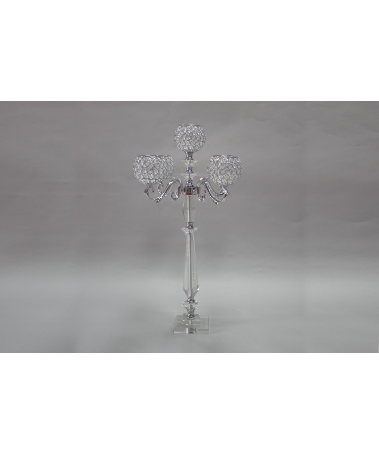 "Candelabra With Crystal Globes (32"")"